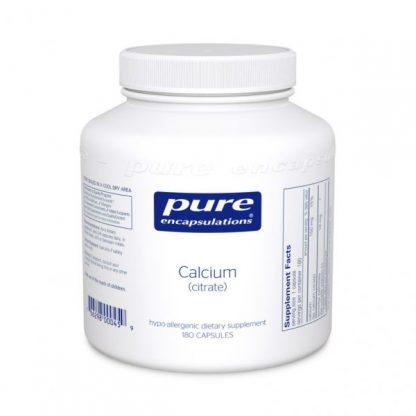 Gluten Free Vegan Calcium Citrate for Bone Health - 180 caps.