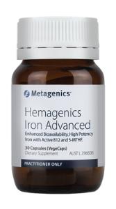 Boost Energy with Hemagenics Iron Advanced - 30 caps